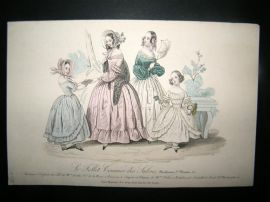 Le Follet C1840's Hand Coloured Fashion Print 753